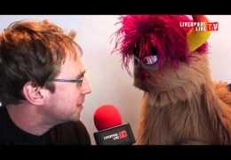 Geoffrey Bumfries talks to Trekkie Monster from Avenue Q