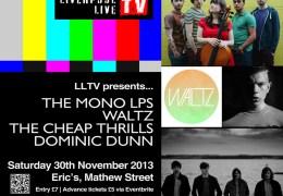 Liverpool Live TV presents… Eric's, Mathew Street – 30th November 2013