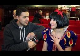 LLTV Panto Day:  Ben talks to Snow White (Laura Gregory)