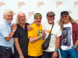 Fairport Convention backstage at Fairport's Cropredy Convention festival