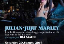 NEWS: Julian 'Ju Ju' Marley heads to Liverpool on UK tour in August