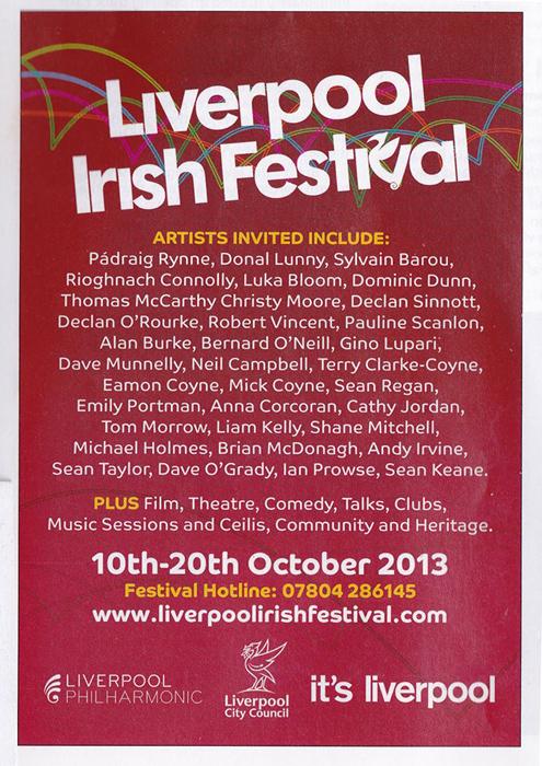 COMING UP: Liverpool Irish Festival, 10 - 20 Oct 2013