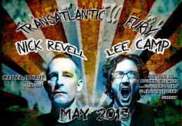 COMING UP: Transatlantic Fury with Lee Camp and Nick Revell, Lantern theatre, 16-17 May
