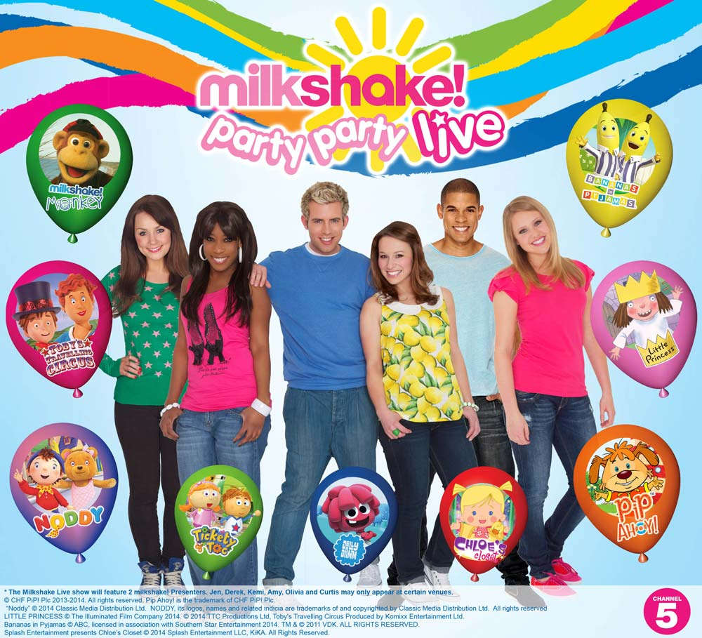 COMPETITION: Win a family ticket and meet the stars of Milkshake! Party Party Live!