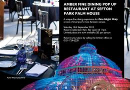 NEWS: Sefton Park Palm House to host unique pop up restaurant for second year running