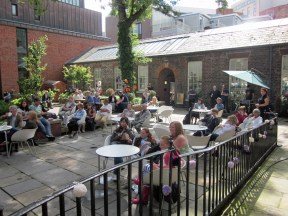 the Bluecoat garden