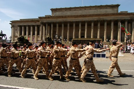 1st royal tank regiment outside St George's Hall