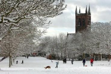 West Derby snowscene
