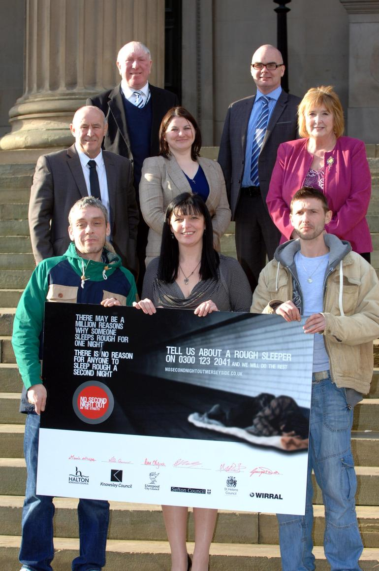 Councillor O'Byrne at launch of No Second Night Out