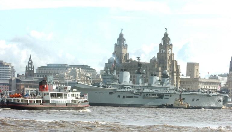 NWS PAUL HEAPSHMS Illustrious docks at Pier Head in Liverpool.