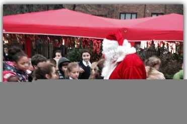 A visit from Santa at the Warbreck event