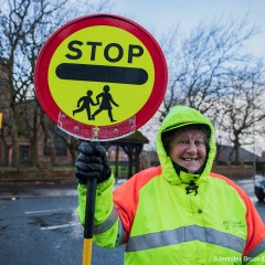 Shirley McConville one of Liverpool City Council's Crossing Patrol Officers