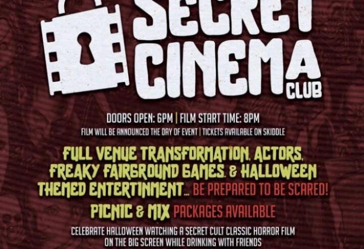 The Secret Cinema Club Announce Halloween 4D Cinema and Disco Night