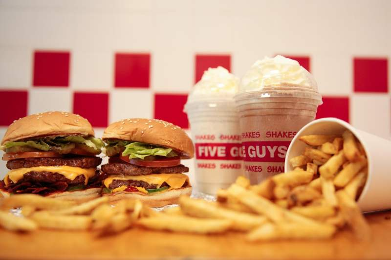 Queen Square Restaurants Click and Collect Five Guys Liverpool