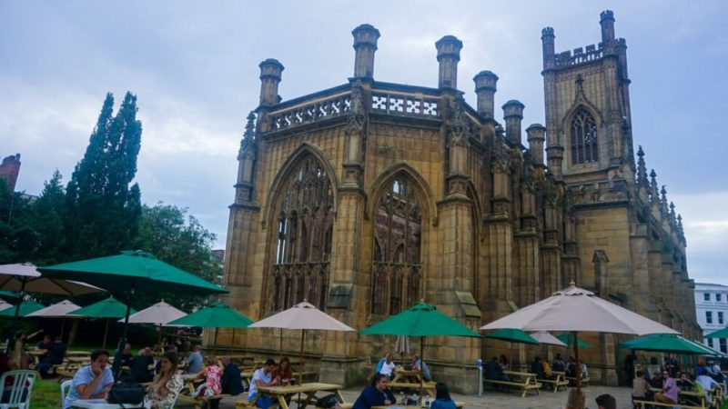 The Bombed Out Church Garden Bar