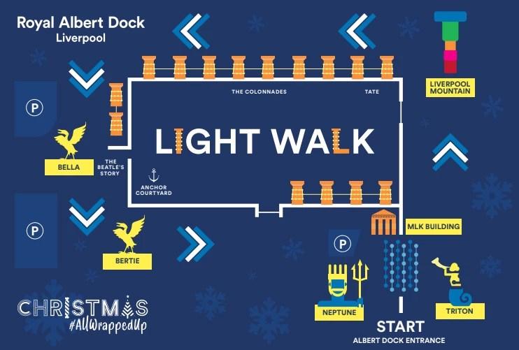 Christmas Light Walk Albert Dock Liverpool Map