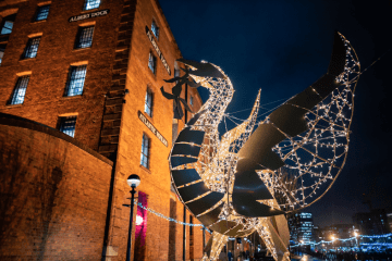 Christmas Light Walk Royal Albert Dock