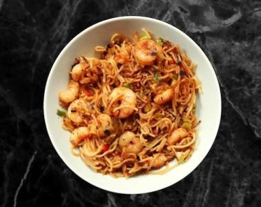 Lu Ban Kitchen Chinese Banquet- Prawn chow mein