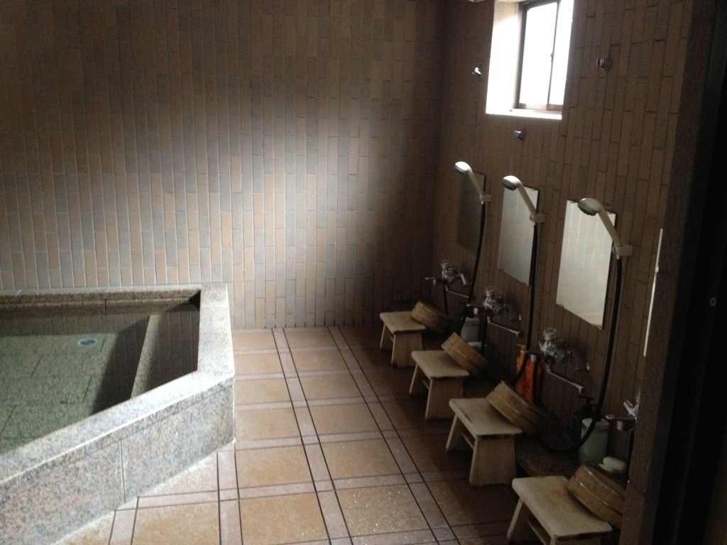 The traditional Japanese bath inside the temple