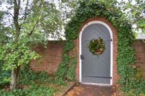 The garden gate.