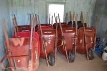 All the wheelbarrows!