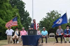 Congressman Rob Wittman speaks during the annual Flag Retirement Ceremony.