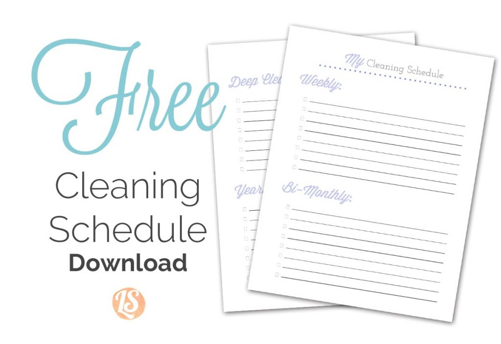 How to Create a Natural Cleaning Schedule + Printable
