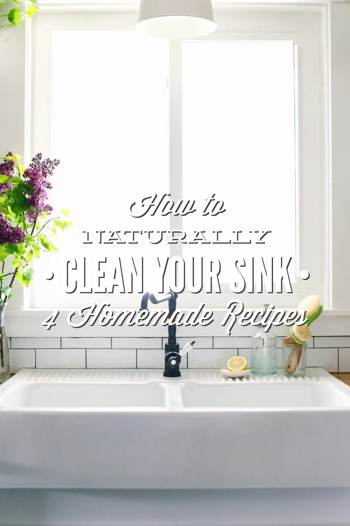 how to naturally clean your sink 4
