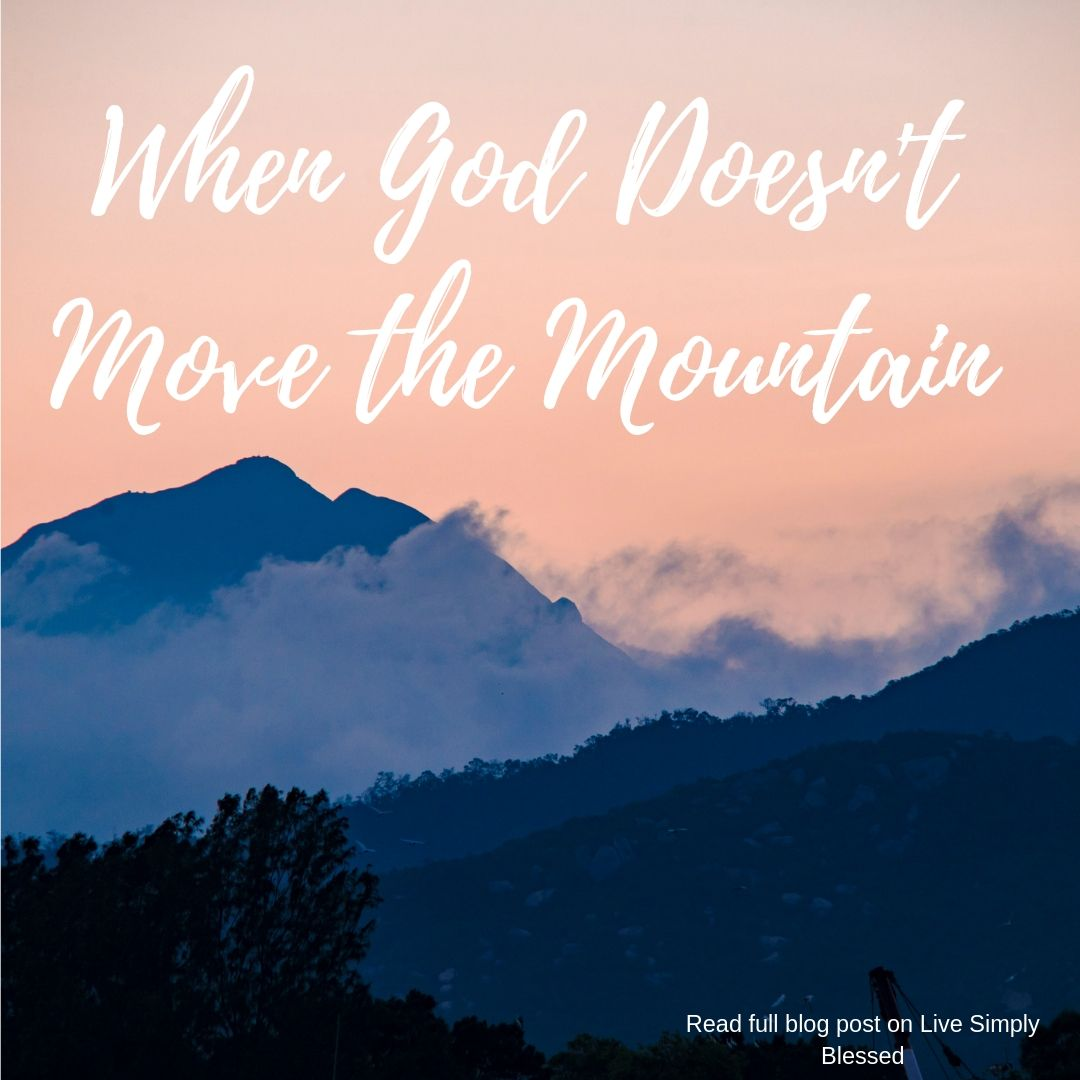 When God Doesn't Move The Mountain - Live Simply Blessed