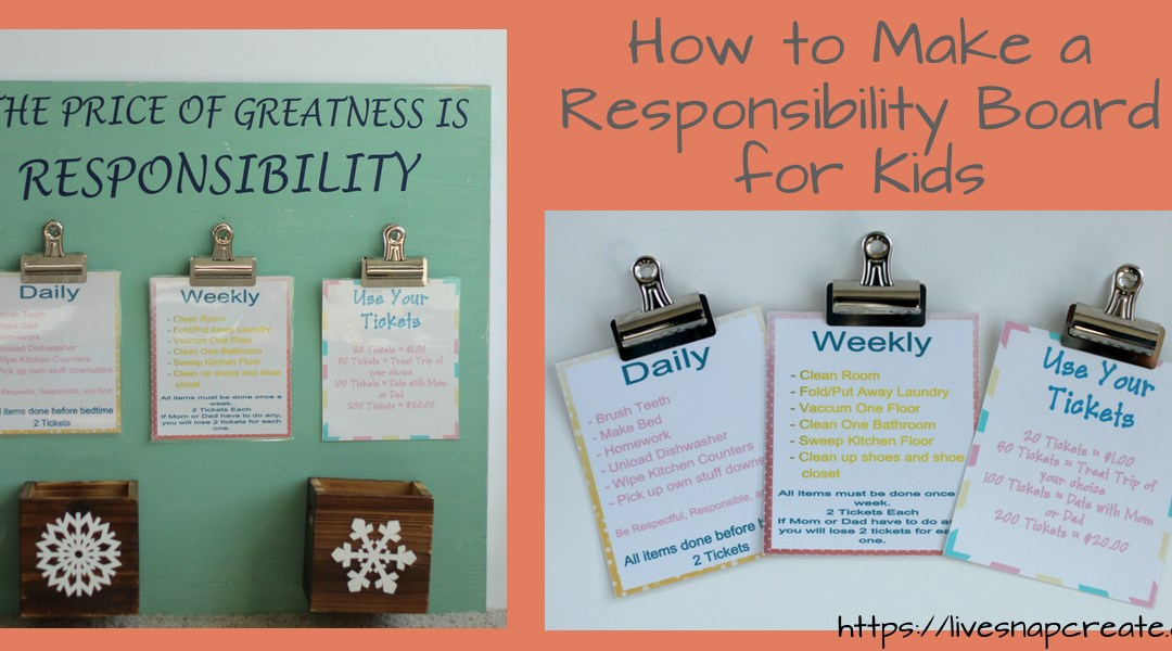 How to Make a Responsibility Board for Kids – Responsibilities not Chores!