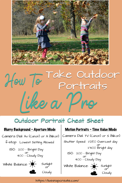 How to take outdoor portraits like a pro!