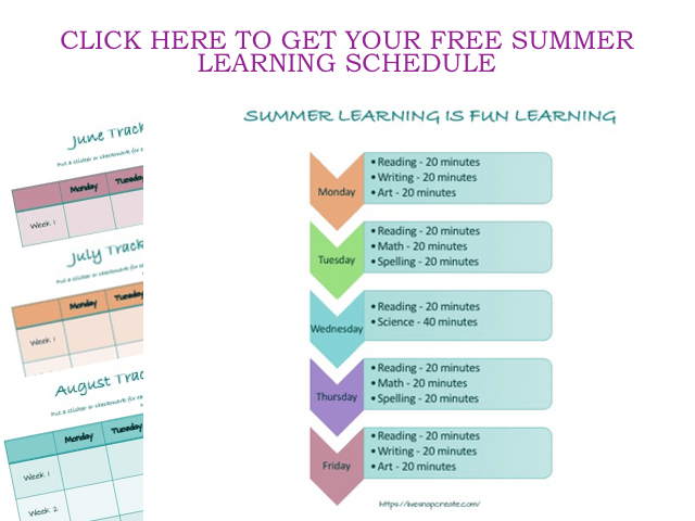summer learning schedule
