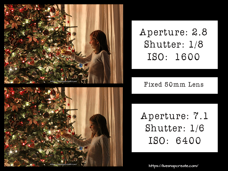 How to shoot Christmas Lights with a fixed 50mm lens