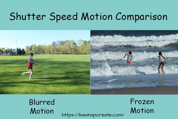 Shutter speed motion comparison