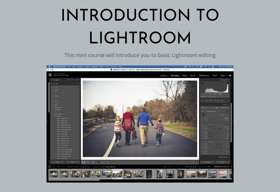 Introduction to Lightroom Mini-Editing Course