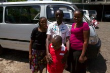 Happy staff at the van dedication