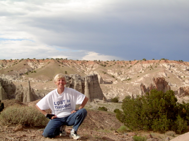 Anita Skeen at Ghost Ranch in Abiquiu, New Mexico