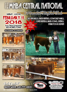 MHBA Central National Miniature Hereford Sale @ Iowa State Fairgrounds | Des Moines | Iowa | United States
