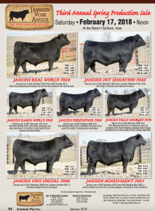 Janssen Voss Angus Third Annual Spring Production Sale @ At the Ranch | Earlham | Iowa | United States