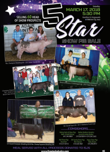 5 Star Show Pig Sale @ Hamilton Co Fairgrounds | Webster City | Iowa | United States