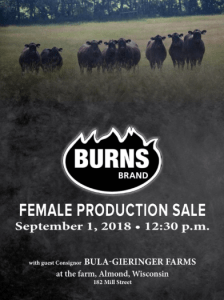 Burns Brand Female Sale @ Burns Brand Farm | Plainfield | Wisconsin | United States