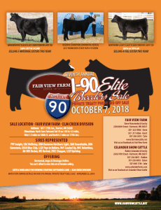 Fairview Farm I-90 Breeders Sale @ Truman | Minnesota | United States