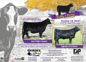 Gerdes Show Cattle Sale @ West Point | Iowa | United States