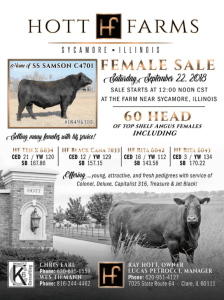 Hott Farms Female Sale @ Sycamore | Illinois | United States