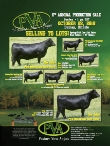 Pasture View Angus 6th Annual Production Sale @ Dunlap | Illinois | United States