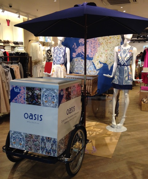 Hire a stylish Ice Cream & Pimms Tricycle for your event!
