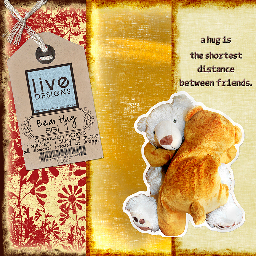 LivEdesigns Bear Hug Mini-Kit Set 1