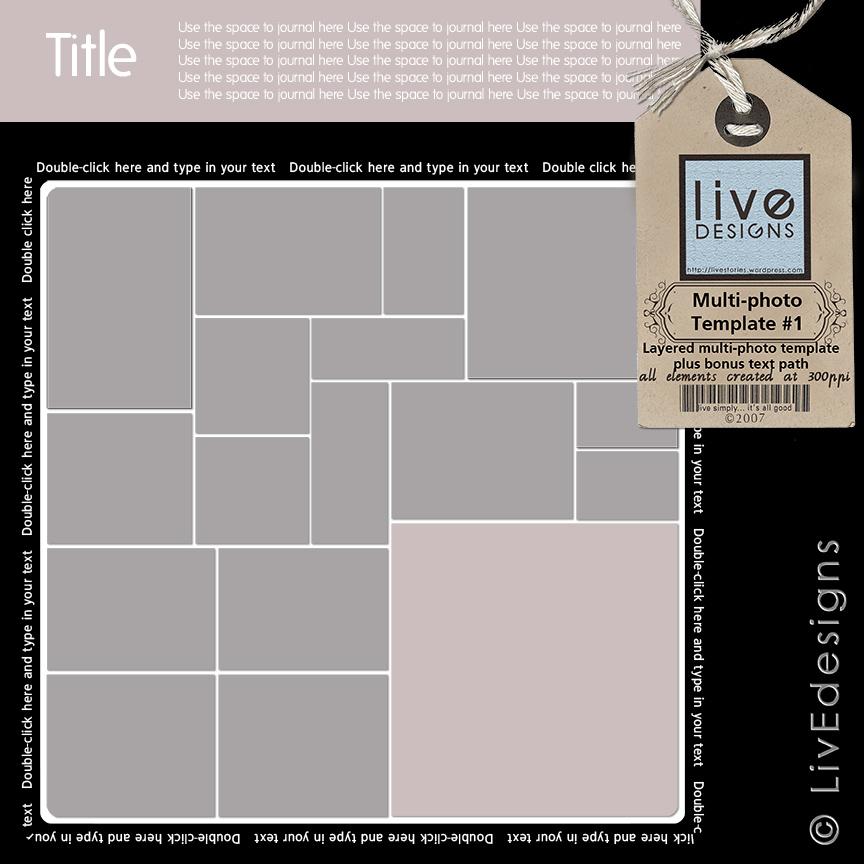 LivEdesigns Multi-photo Template No.1