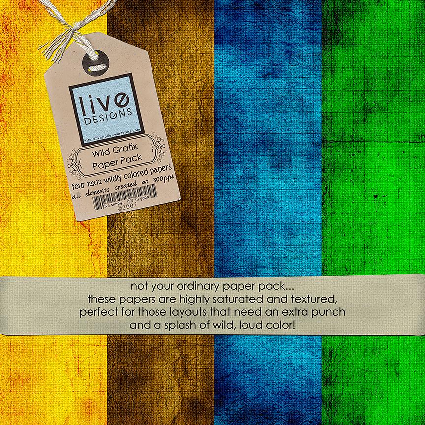 LivEdesigns Wild Grafix Paper Pack