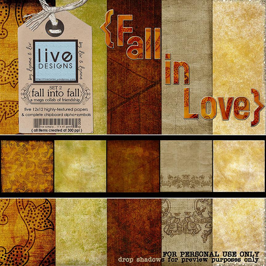 LivEdesigns - Fall into Fall Freebie - Set 2